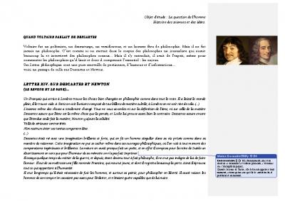 Descartes par Voltaire