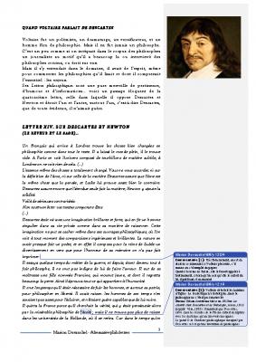 Descartes portrait par Voltaire