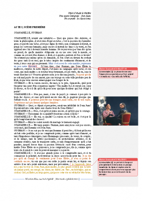 Don Juan, acte I et texte d'invention
