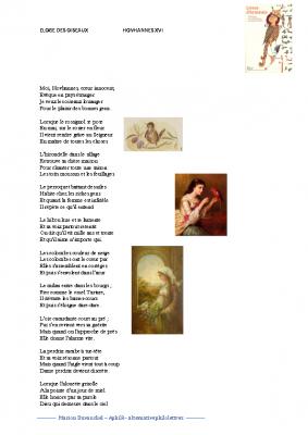 Eloge des oiseaux zoom sur la poésie arménienne