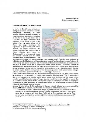Les chrétientés disparues du Caucase