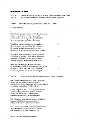 Poésie Baudelaire Musset