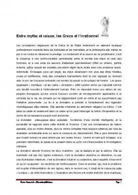 2 Les Grecs et l'irrationnel