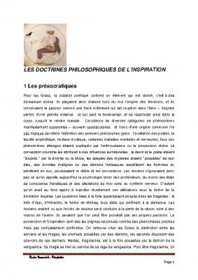 4 Les doctrines philosophiques