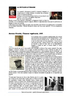 Antoine Blondin critique de Prévert