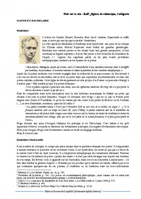 Dante et Baudelaire
