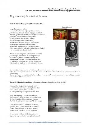 L'homme et la mer Hugo Baudelaire Heredia