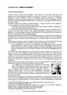 Le Duende Federico Garcia Lorca
