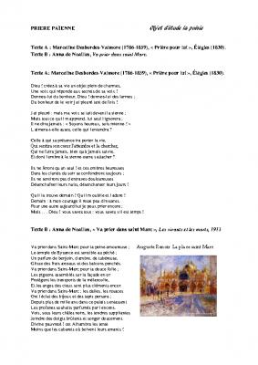 Va prier dans saint Marc Anna de Noailles M Desbordes Valmore