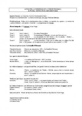 descriptif de séquence théâtre Hernani V Hugo