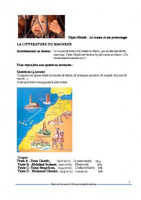 La littérature du Maghreb