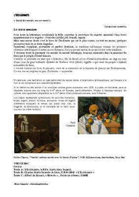 L'Ecclésiaste – Musset leconte de Lisle