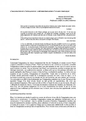 L'imagination pdf