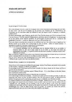 Madame Bovary approche générale 1 PDF