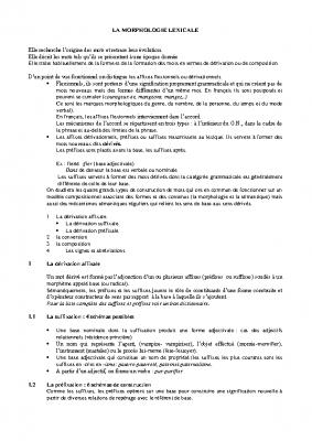 Morphologie lexicale