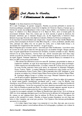 José M. de Hérédia – Le Huchier de Nazareth