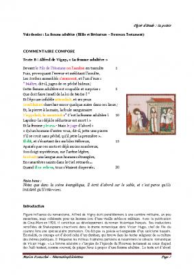 La femme adultère – Alfred de Vigny docx