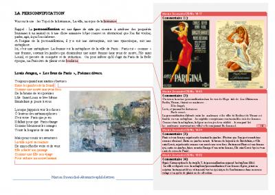 La personnification Aragon Les feux de Paris