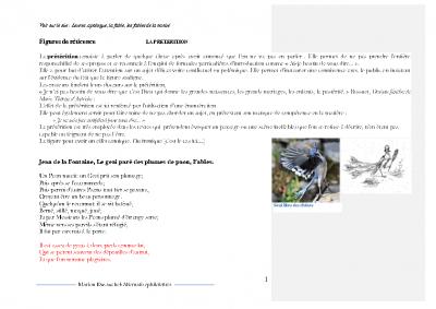 La prétérition, Jean de la Fontaine