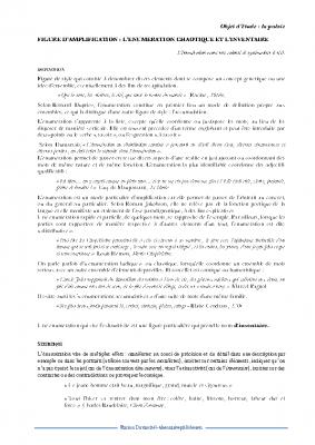 L'énumération chaotique et l'inventaire Saint Pol roux