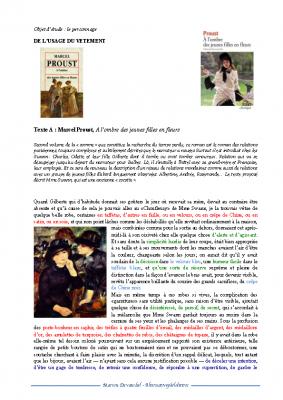 L'usage du vêtement selon Proust