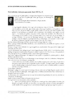 Sur le mythe du bon sauvage