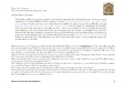 Aristote la justice et la loi (1)