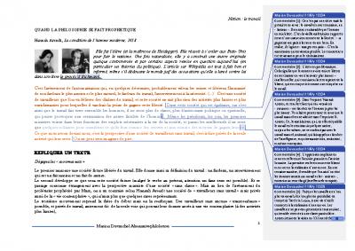 H Arendt, le travail
