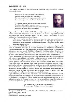 Charles Péguy, Notre Dame
