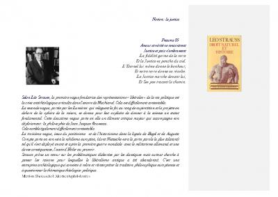 Léo Strauss la justice et la loi