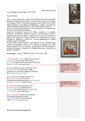 Le lyrisme O.V. Lubicz de Milosz