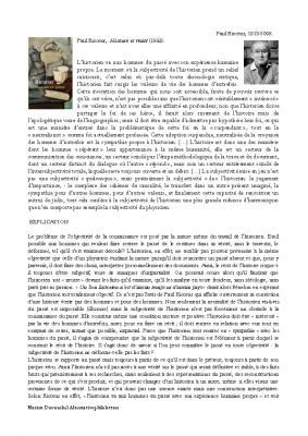 Paul Ricoeur, l'histoire