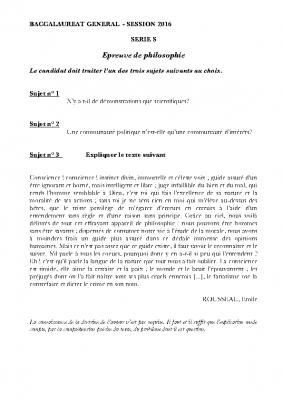 Rousseau la politique la démonstration