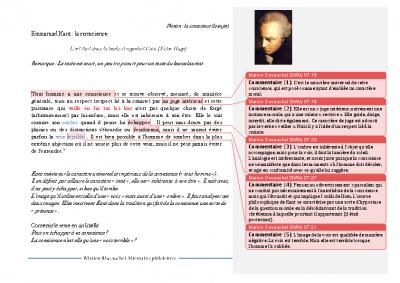 Kant la conscience