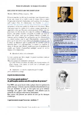 Merleau Ponty classiques et modernes