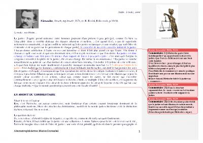 Nietzsche, la justice et la force