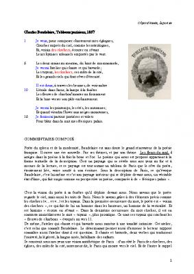 Baudelaire les toits de Paris