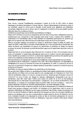 Histoire littéraire symbolisme et dadaïsme (1)
