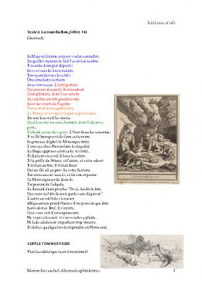 La cour du Lion, Jean de la Fontaine