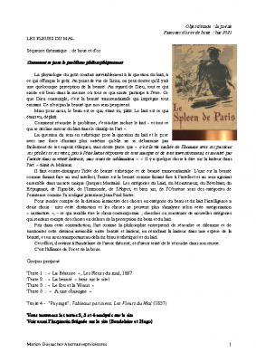 Baudelaire, Les fleurs du mal, d'or et de boue-converti