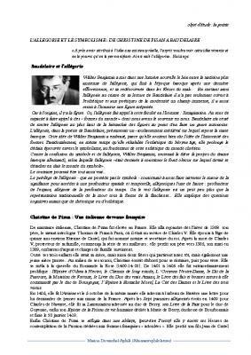 L'allégorie de Christine de Pisan à Baudelaire